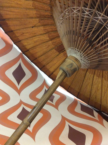 Vintage wax paper umbrella. 1940s/50s....