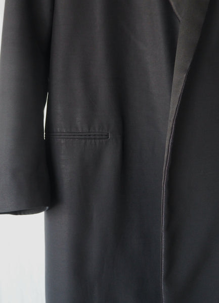 CÉLINE SILK AND WOOL TAILORED COAT