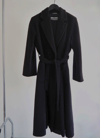 MAX MARA BELTED WOOL AND CASHMERE COAT