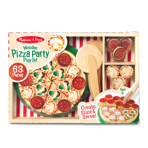 Melissa & Doug Wood Pizza Party Play Set