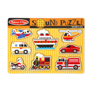 Melissa & Doug Sound Puzzle - Vehicles