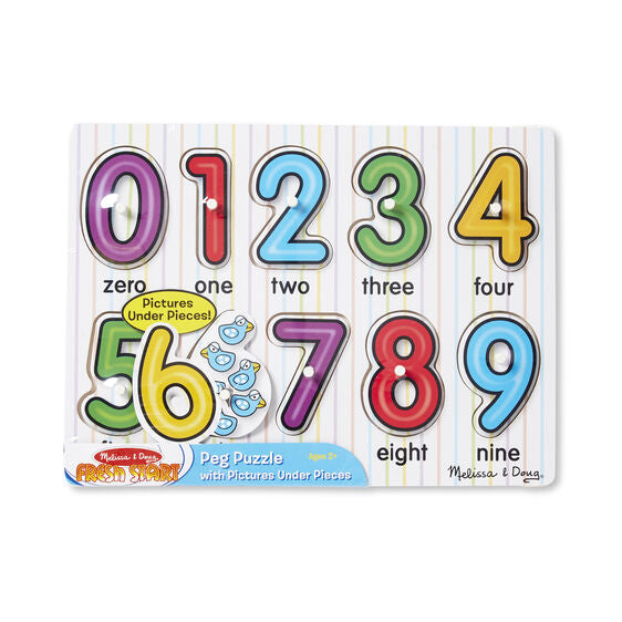 Melissa & Doug Peg Puzzles - Lift & See Numbers