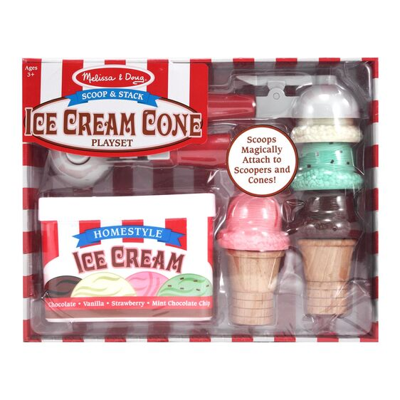 Melissa & Doug Scoop & Stack Ice Cream Cone Play Set