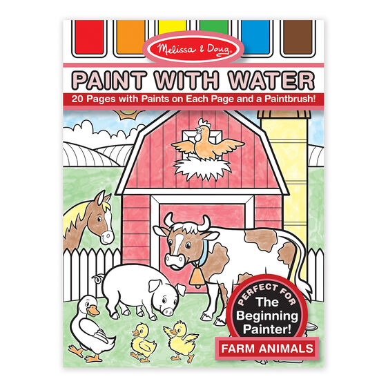 Melissa & Doug Paint with Water -  Farm Animals