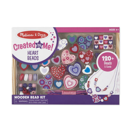 Melissa & Doug Wooden Bead Kits - Heart Beads