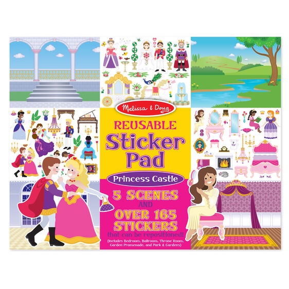Melissa & Doug Reusable Sticker Pads - Princess Castle