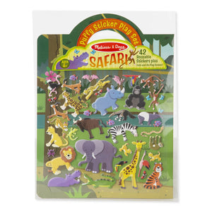 Melissa & Doug Reusable Puffy Sticker Play Set - Safari