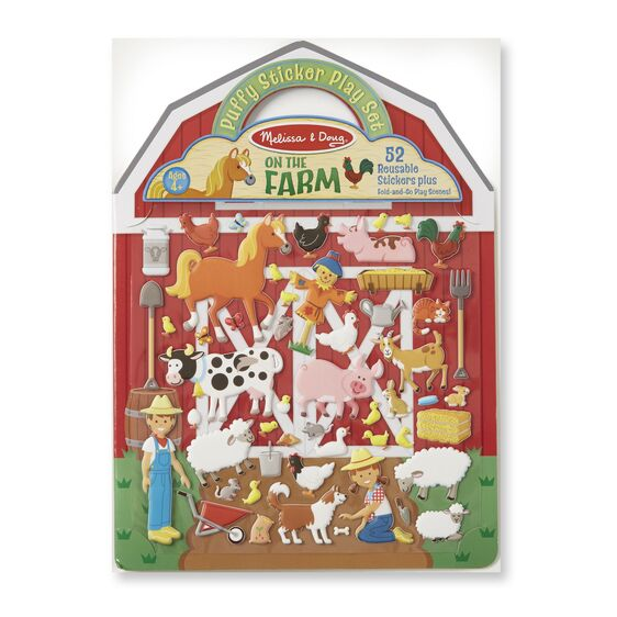 Melissa & Doug Reusable Puffy Sticker Play Set - On the Farm