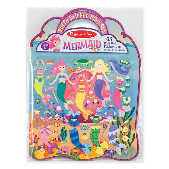 Melissa & Doug Reusable Puffy Sticker Play Set - Mermaid