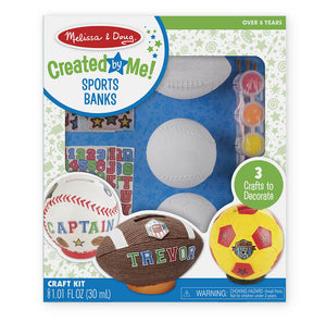 Melissa & Doug Created by Me - Sports Banks