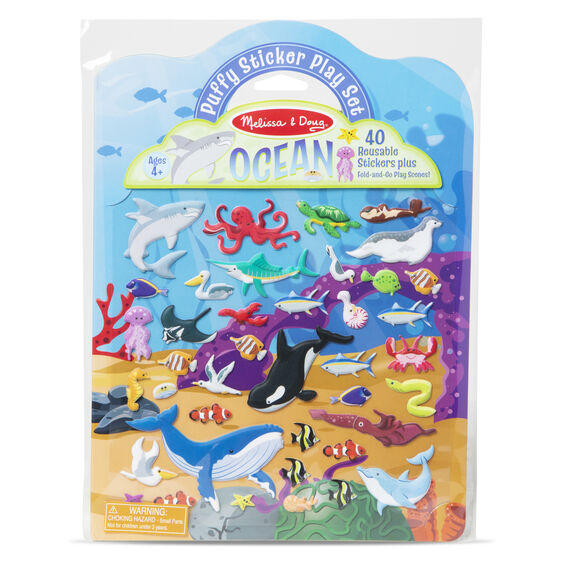 Melissa & Doug Reusable Puffy Sticker Play Set - Ocean