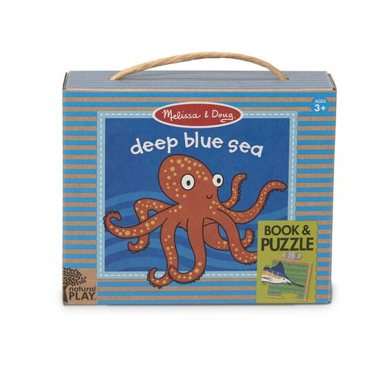 Melissa & Doug Natural Play Deep Blue Sea - Book & Puzzle
