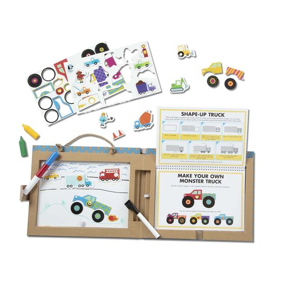 Melissa & Doug Play, Draw, Create - Trucks