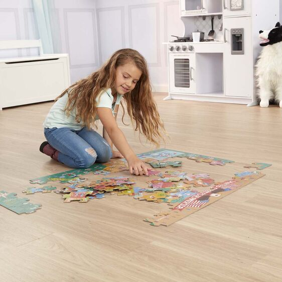 Melissa & Doug Natural Play Floor Puzzles - America the Beautiful