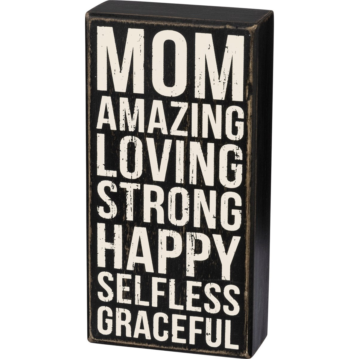 Box Sign - Mom Amazing Loving Strong Happy