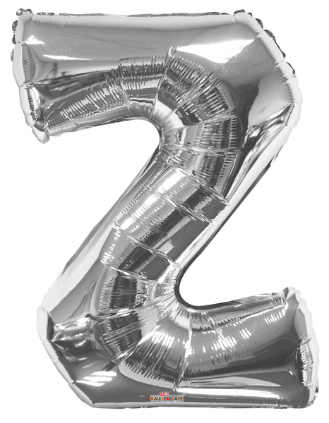 Jumbo Silver Balloon - LETTERS A thru Z available