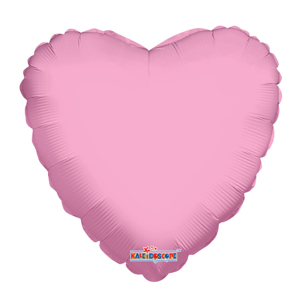 "Solid Color Heart Shape Mylar Balloons -  Assorted 18"" styles available"
