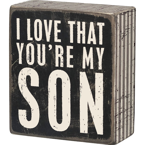 Box Sign - My Son