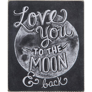 Chalk Sign - Love You To The Moon