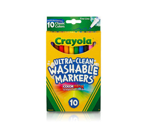 Crayola Ultra Clean Fine Line Washable Markers - Classic Colors - 10 ct.