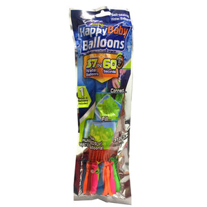 37 Water Balloons Multicolored Self-sealing