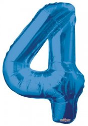 Jumbo Number Balloons (includes helium & strings)