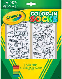 Crayola Color In Socks