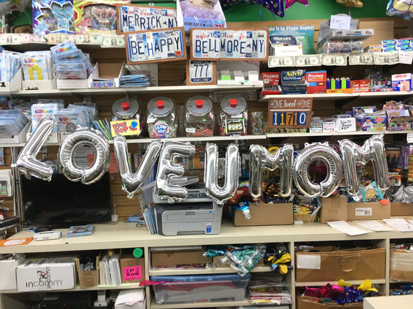 Love U Mom Balloon Banner - Air Filled