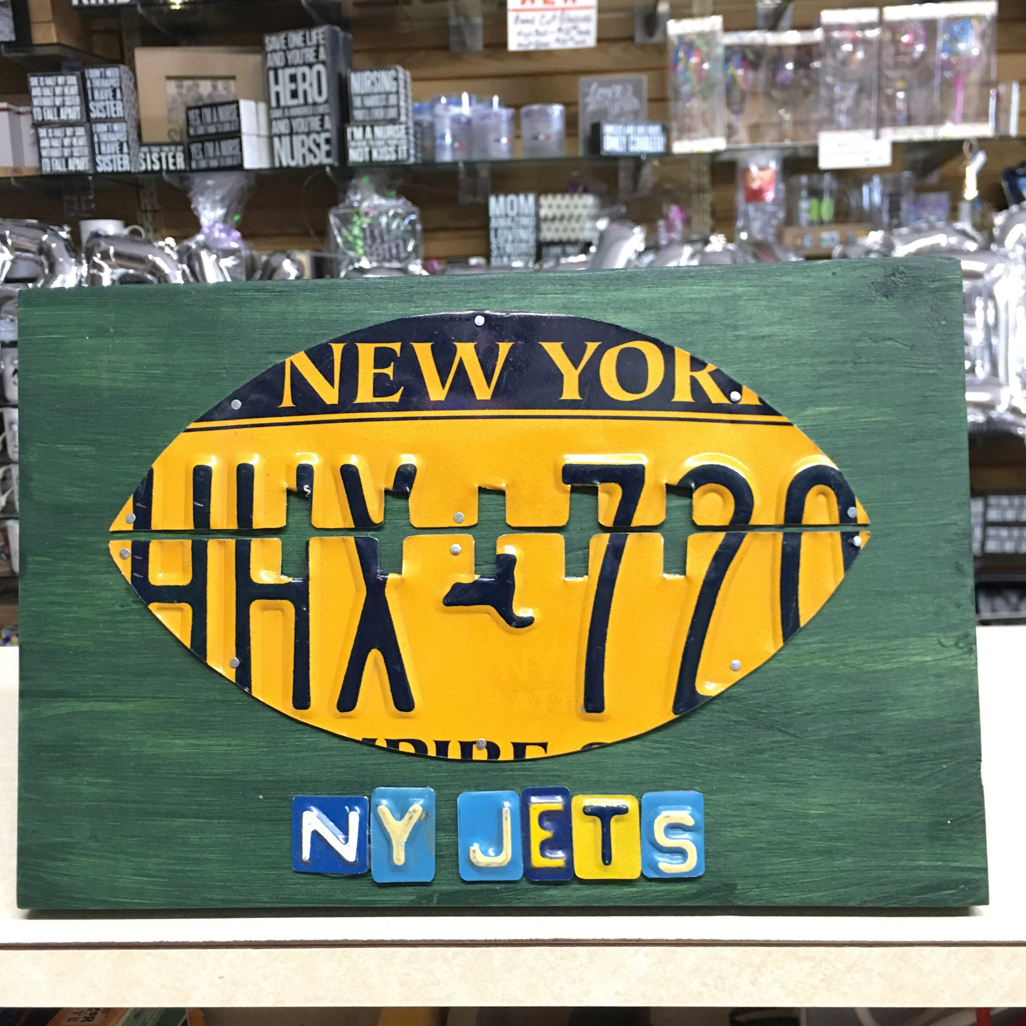 Football Team License Plate Wall Signs - Custom Made