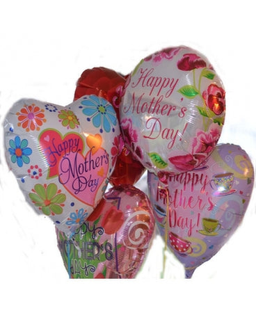 Mother's Day Mylar Balloons Bouquet - 6 Balloons