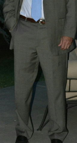 man in baggy suit