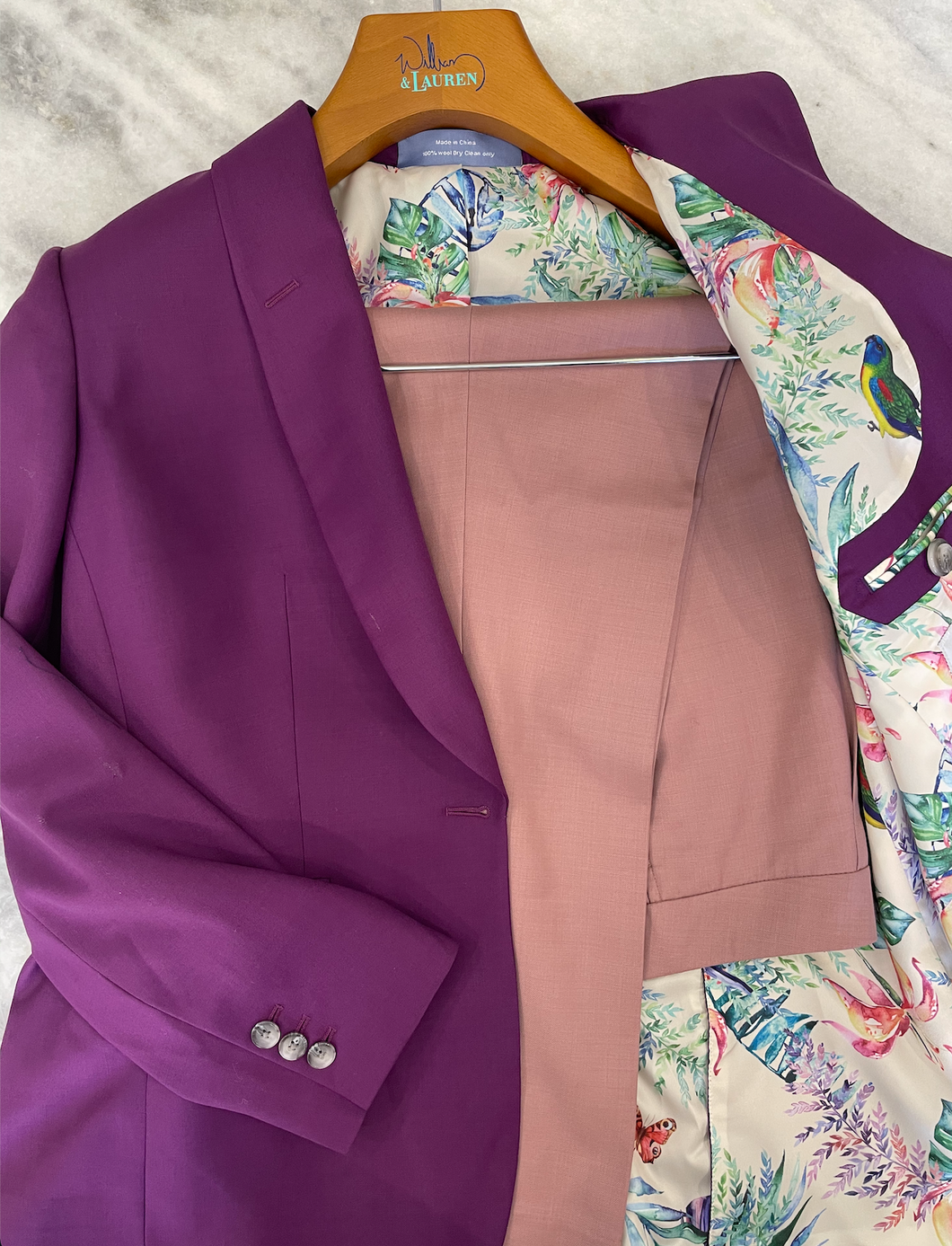 Women's Custom Jacket- Purple