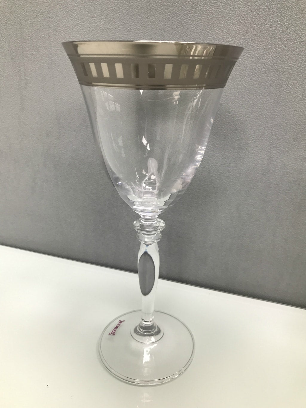 Platinum Rim Wine Glass Set