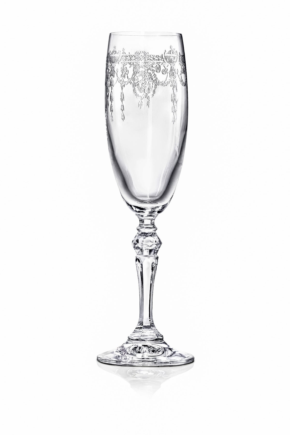 Catherine Champagne Flutes - Set of 6 Drinking Glasses