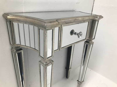 Mirrored Console Side Table with One Drawer