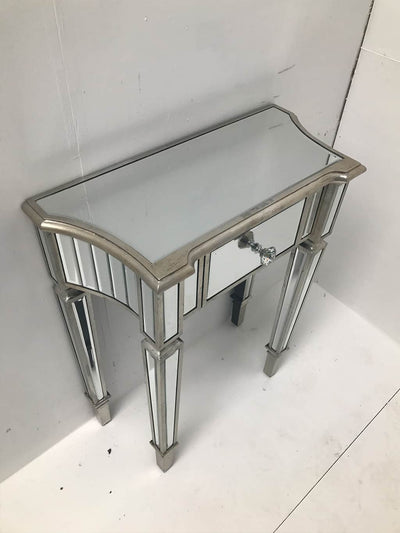 Mirrored Console Side Table with Single Drawer