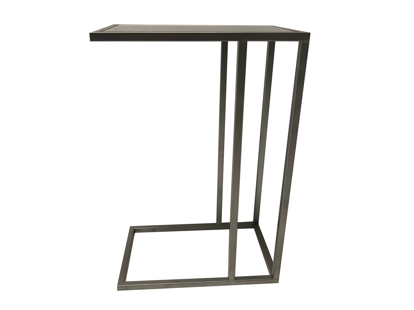 Sofa Mirrored Side Table, metal and mirror, silver finish