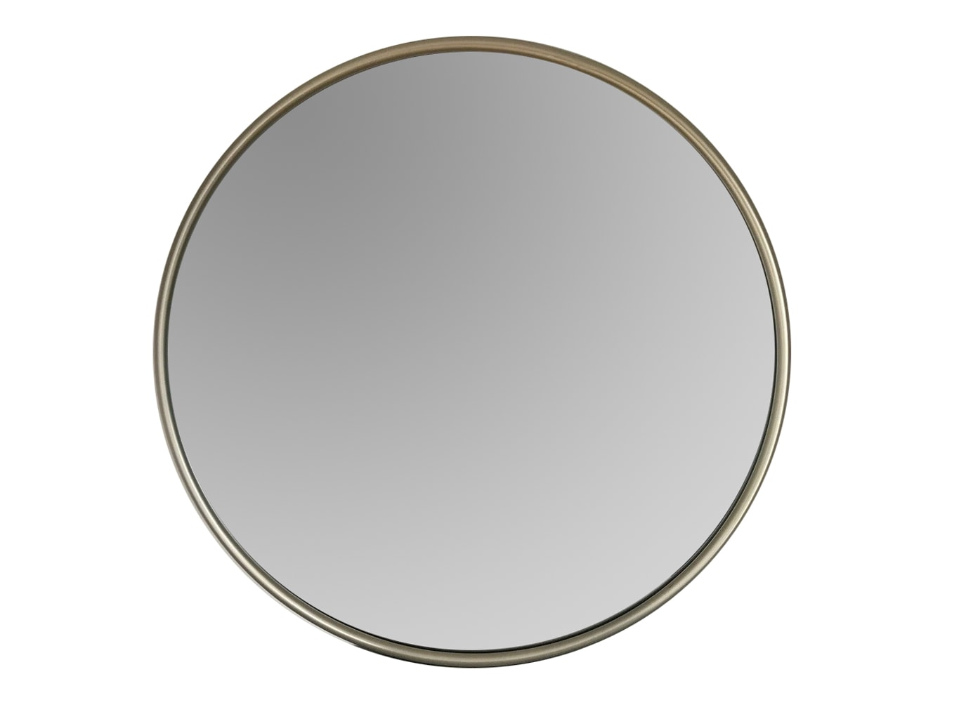 Round Silver Wall Mirror