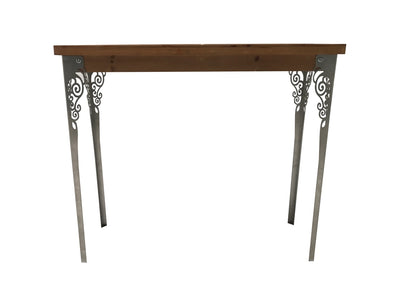 Console table wood and metal brown