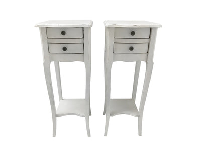 Pair of 2 Drawer Bedside Tables » Small