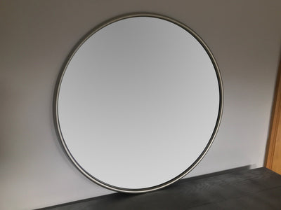 Silver Mirror Round Wall Hanging