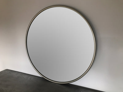 Silver Mirror, round, wall-mounted