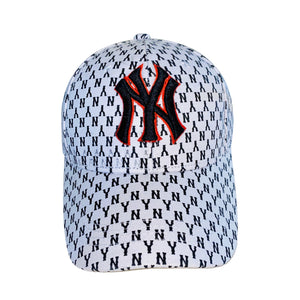 NY Fitted Cap White