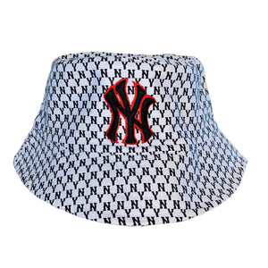 NY Bucket Hat White