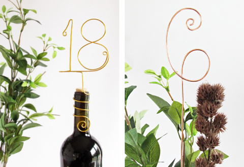 Wire Wedding Table Numbers