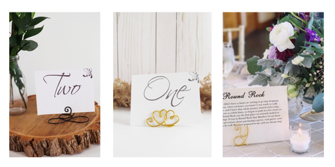 Wire Wedding Table Number Holders