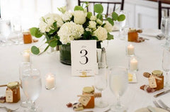 spiral table number stands