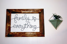 Load image into Gallery viewer, Family is Everything Wire Wall Décor - JV Country Creations