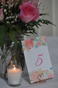 Rose Gold Heart Wire Table Number Holders - JV Country Creations