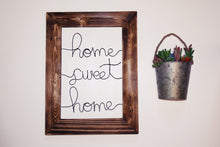 Load image into Gallery viewer, Home Sweet Home Wire Wall Décor - JV Country Creations